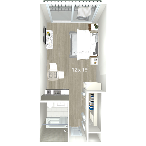 Bay Parc Apartments | Miami, FL | Floor Plans One Bedroom Sq Ft House Plan Html on